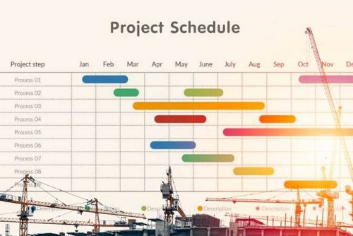 برنامه زمانبندی پروژه ساختمانی اسکلت فلزی 6 طبقه