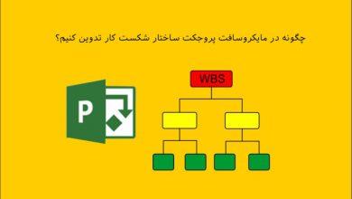 تصویر از نحوه تدوین و مدیریت ساختار شکست کار در MSP